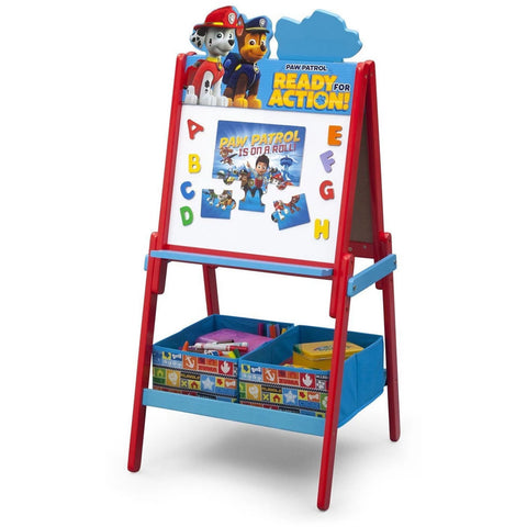 Delta Children Wooden Double Sided Activity Easel, Paw Patrol