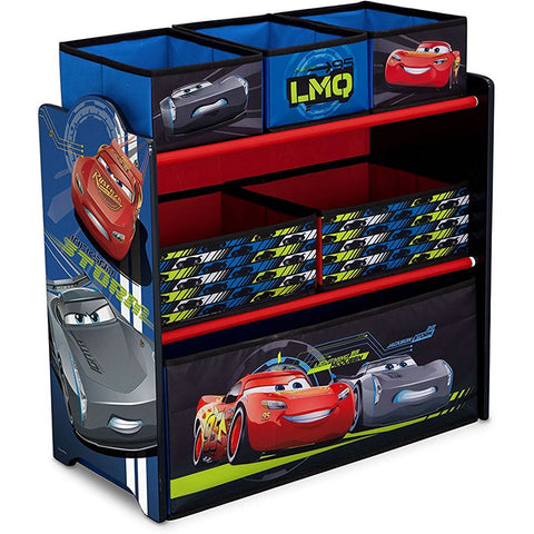 Delta Children 6-Bin Toy Storage Organizer, Pixar Cars