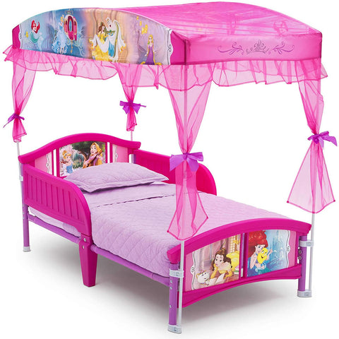 Delta Children Princess Toddler Canopy Bed
