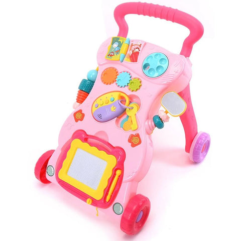 Huanger Musical Stand Learning Walker, Pink