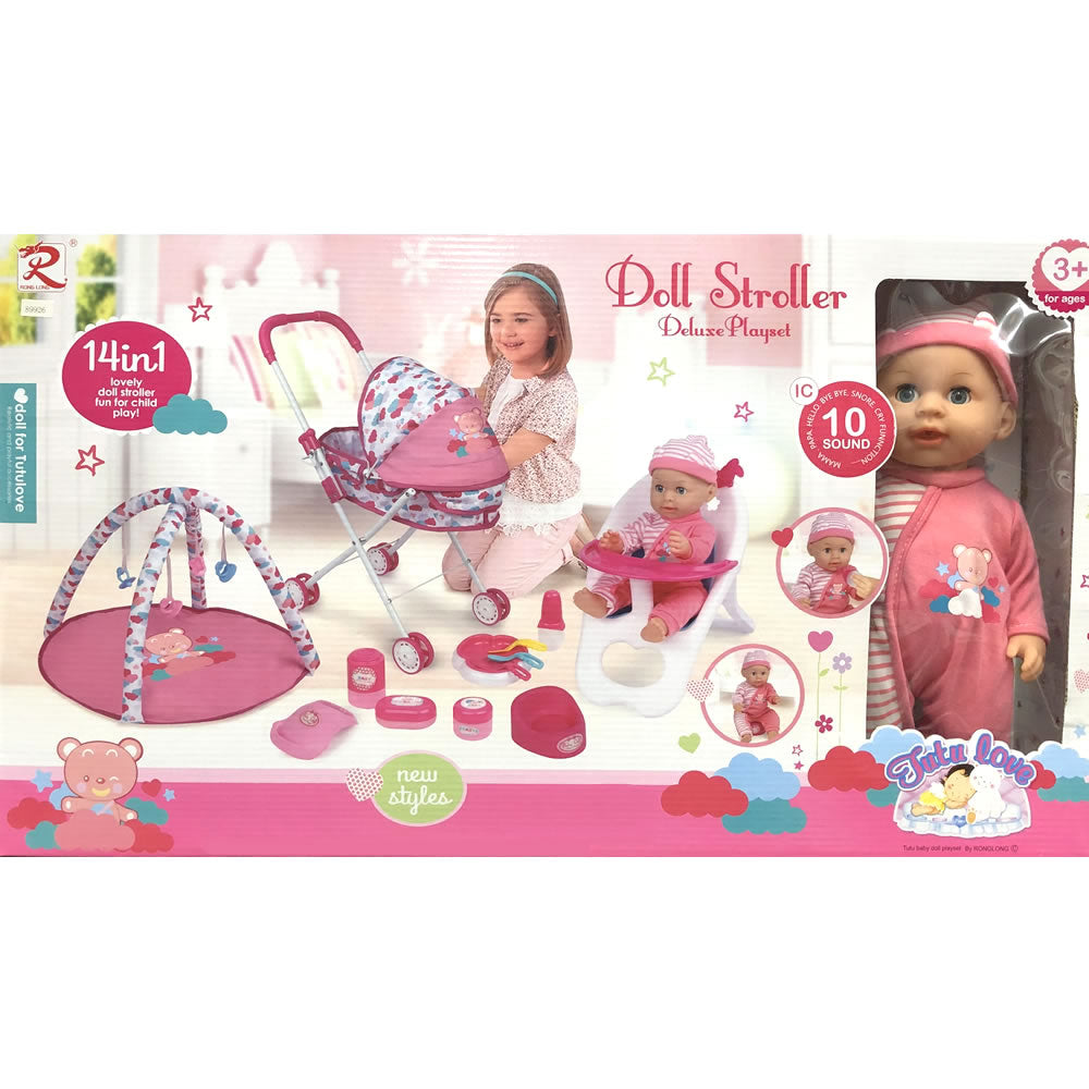 Tutu Love Doll Stroller Deluxe Playset