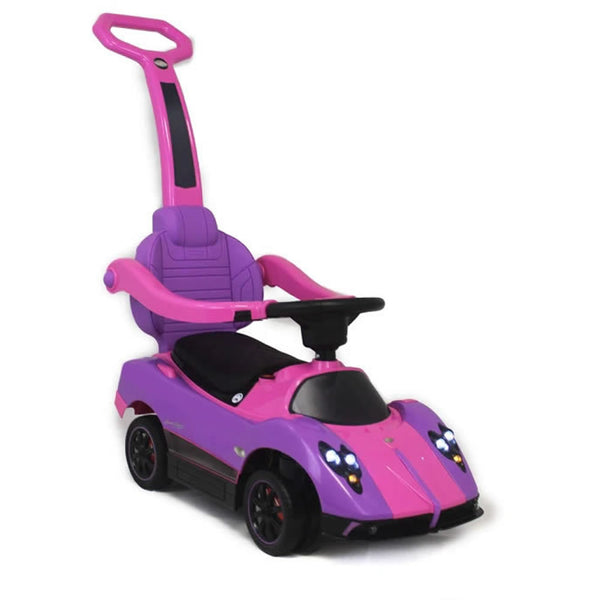 Licensed Pagani SXZ1758 Kids Convertible Ride On Push Car - Purple