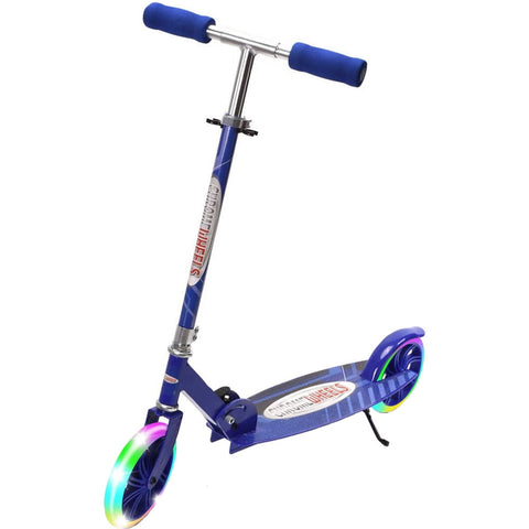 Chrome Wheels New Dash Glidekick Scooter - Blue
