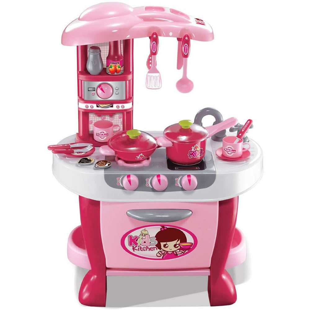 Kids Kitchen Little Chef Cook Play Set with Lights and Sound