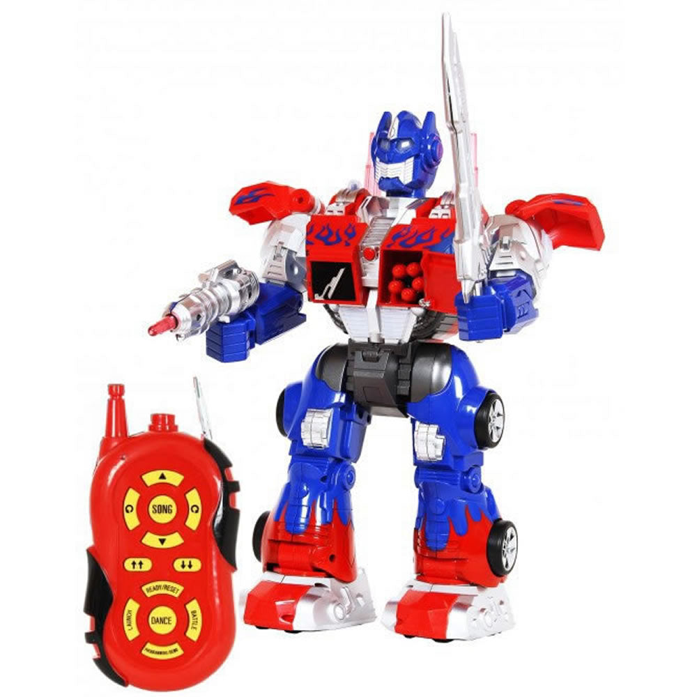 Tower Thunder Multi-Function Remote Control Robot - Blue/Red