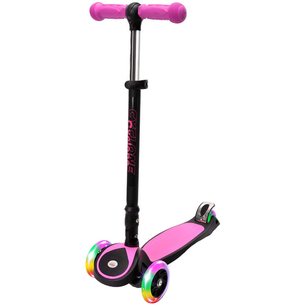 Chrome Wheels Cyclone Glidekick Foldable Scooter, Pink