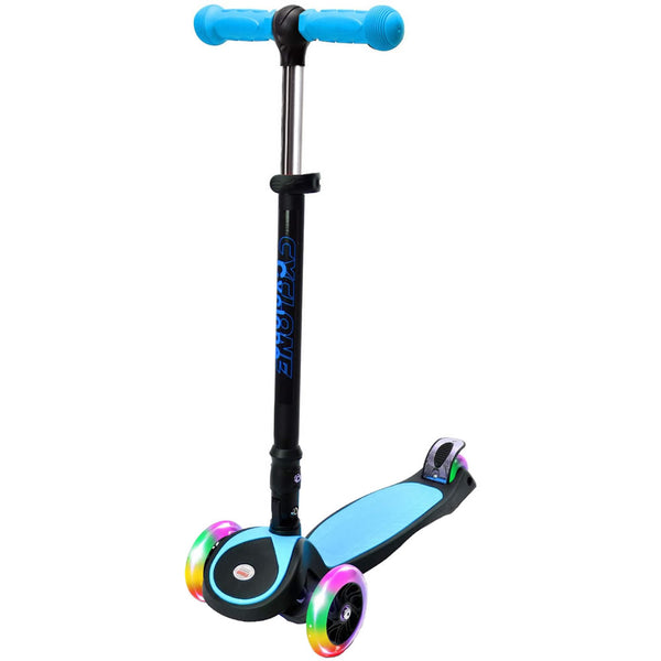 Chrome Wheels Cyclone Glidekick Foldable Scooter, Blue
