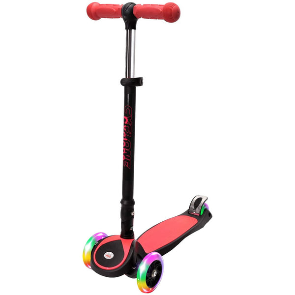 Chrome Wheels Cyclone Glidekick Foldable Scooter, Red