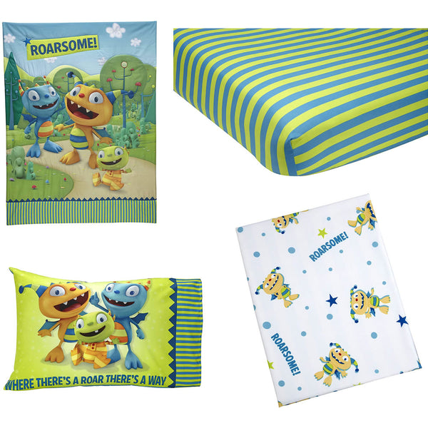 Disney Hugglemonster 4 Piece Toddler Bedding Set