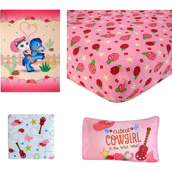 "Disney 4 Piece Sheriff Callie ""Cutest Cowgirl"" Toddler Bed Set"