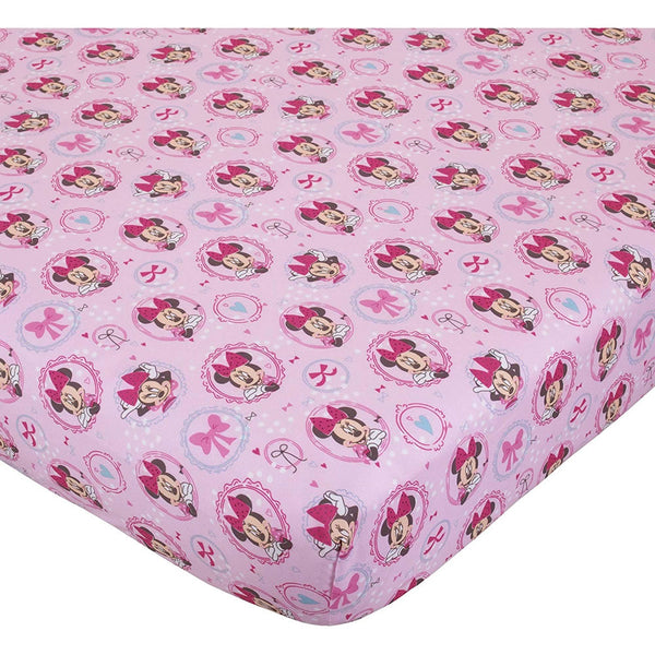 Disney Fitted Crib Sheet, Minnie Mouse Bows are Best