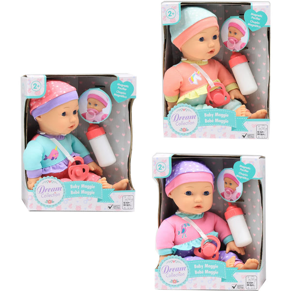 "Gigo Toys 12"" Maggie Baby Doll, Colors May Vary"