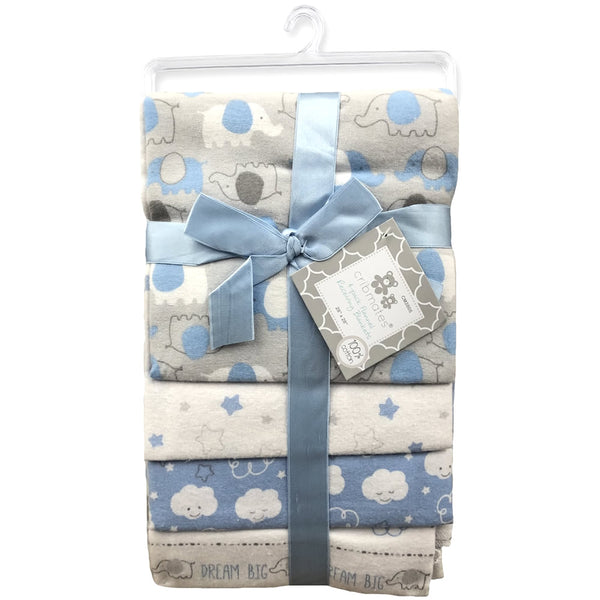 Cribmates 4-Pack Flannel Receiving Blankets - Dream Big