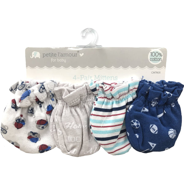 Petite L'amour 4 Pack Scratch Mittens - All Star