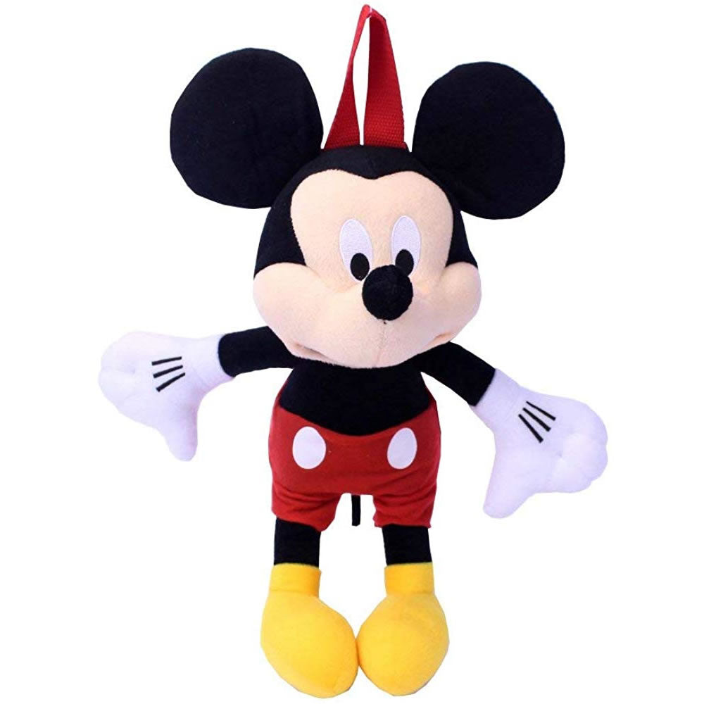 Disney Mickey Mouse Plush Backpack 14""