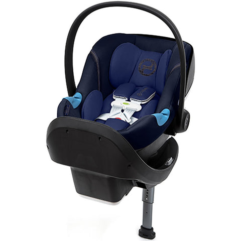 Cybex Aton M Infant Car Seat with SafeLock Base, Denim Blue
