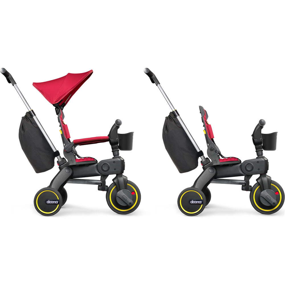 New Doona Liki Trike S3 in Flame Red from 10 months to 3 Year with storage bag
