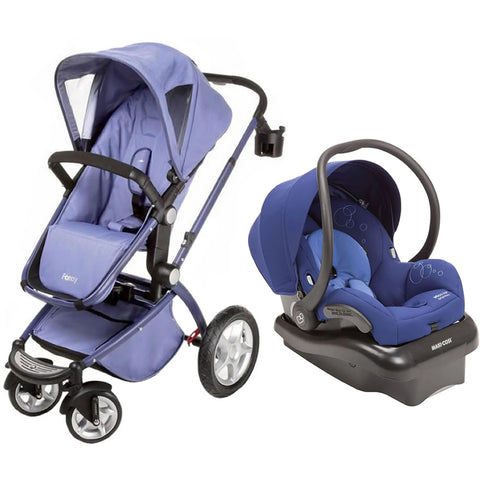 Maxi Cosi Foray LX Stroller with Mico AP - Bleached Denim/Reliant Blue