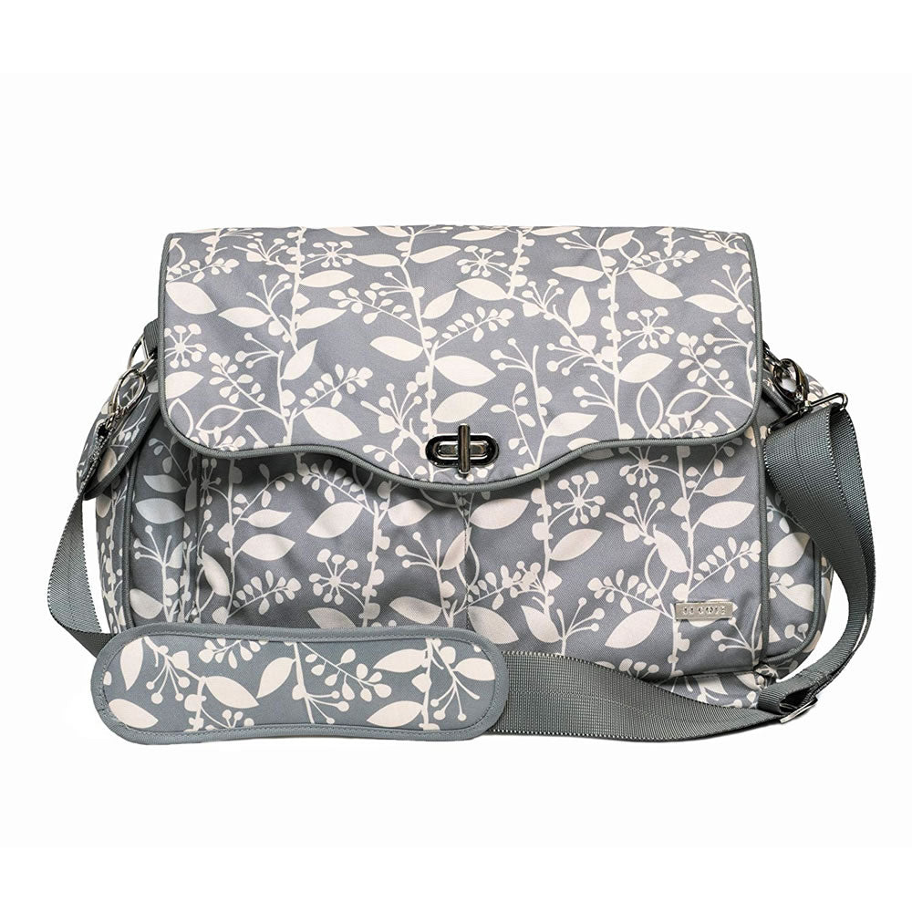 JJ Cole Collections Cadence Diaper Bag, Gray with Cream Pattern