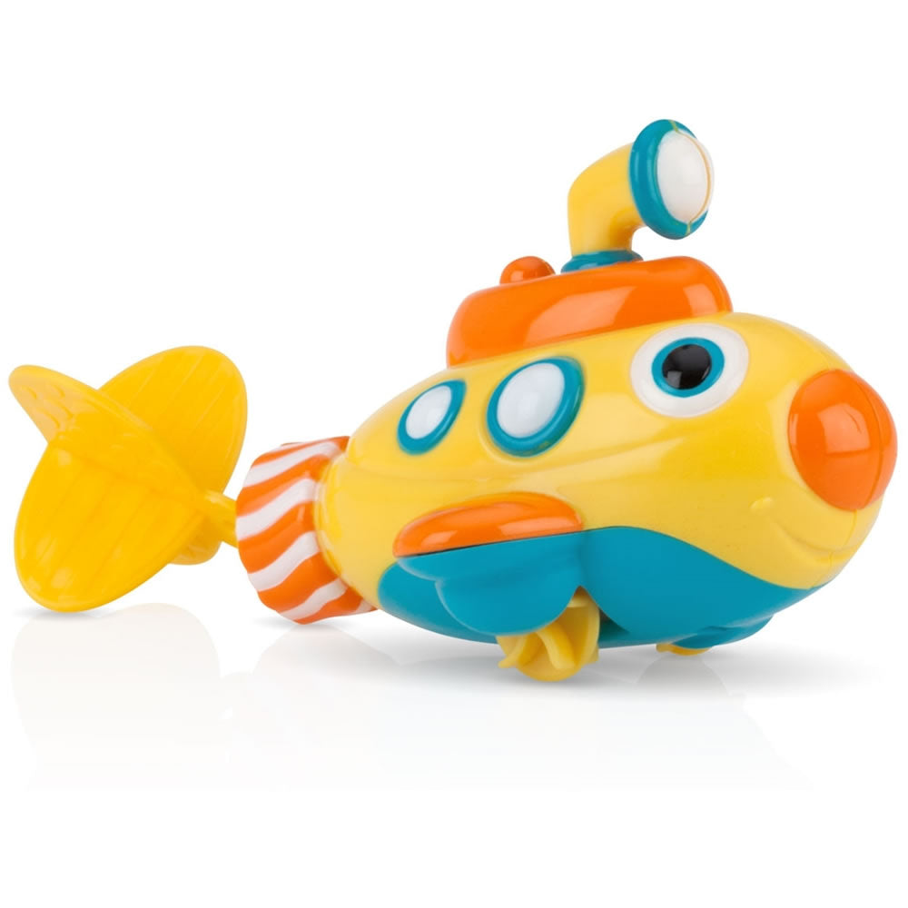 Nuby Little Submarine Pull String Bath Toy, Yellow