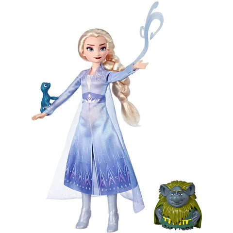 Disney Frozen Elsa Doll with Pabbie & Salamander Figures