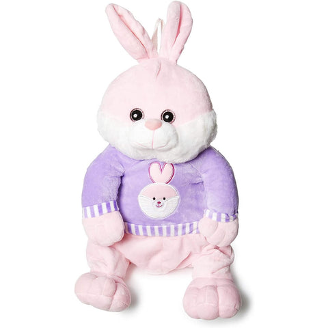 "Calplush 14"" Cute Animal Backpack Pals with Leash Bag, Bunny"