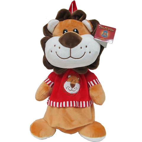 "Calplush 14"" Cute Animal Backpack Pals with Leash Bag, Lion"