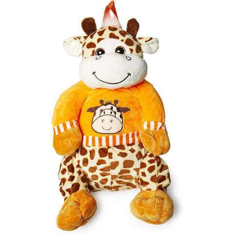 "Calplush 14"" Cute Animal Backpack Pals with Leash Bag, Giraffe"