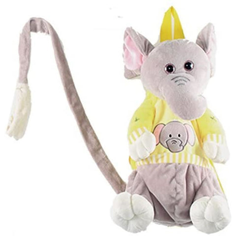 "Calplush 14"" Cute Animal Backpack Pals with Leash Bag, Elephant"