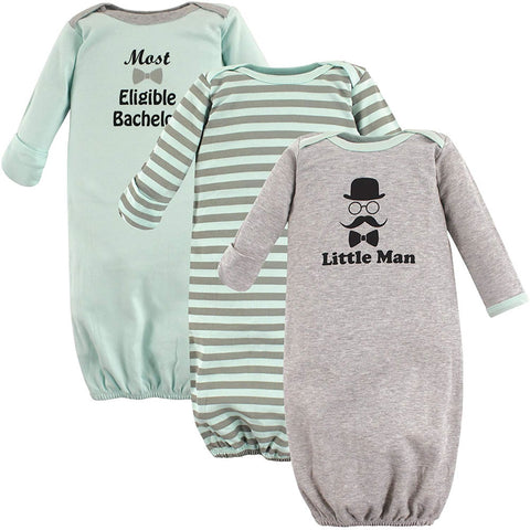 Luvable Friends 3 Pack Gowns - Little Man