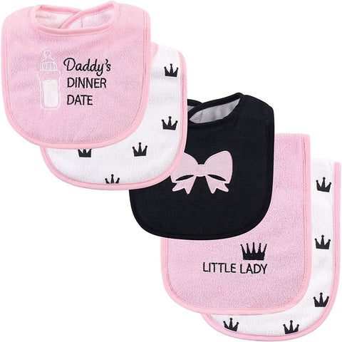 Hudson Baby Bib and Burp Cloth Set, Dinner Date