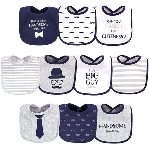 Hudson Baby 10 Pack Baby Bibs - Handsome Like Daddy