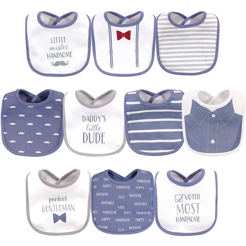 Hudson Baby 10 Pack Baby Bibs - Little Mister Handsome