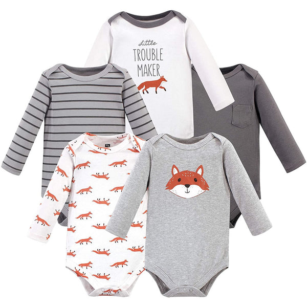 Hudson Baby Baby Cotton Bodysuits - Large, Little Fox