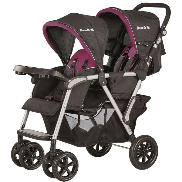 Dream On Me Villa Tandem Stroller - Pink