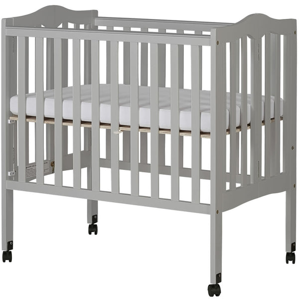 Dream On Me 2 in 1 Lightweight Folding Portable Crib - Pebble Grey
