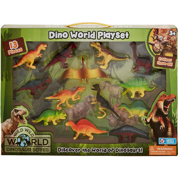 Lollipop 13-Piece Dino World Playset