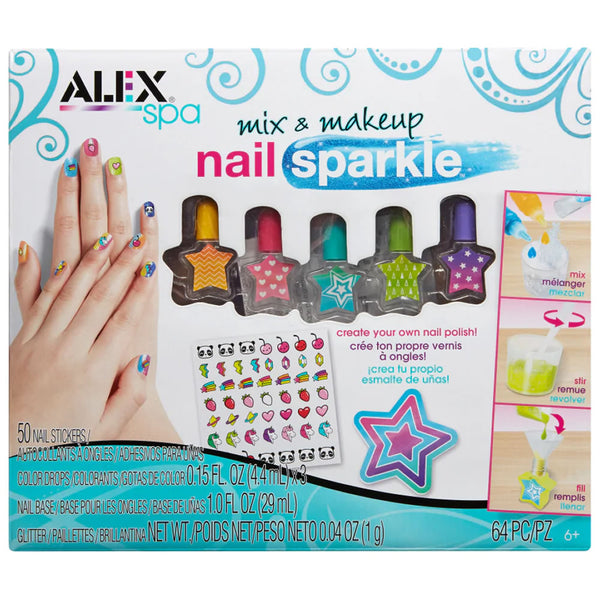 Alex Spa Mix & Make Up Nail Sparkle Kit