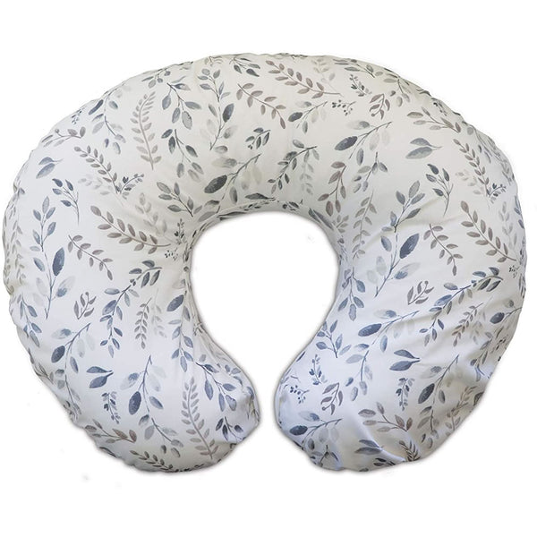 Boppy Original Feeding & Infant Support Pillow, Gray Taupe Leaves