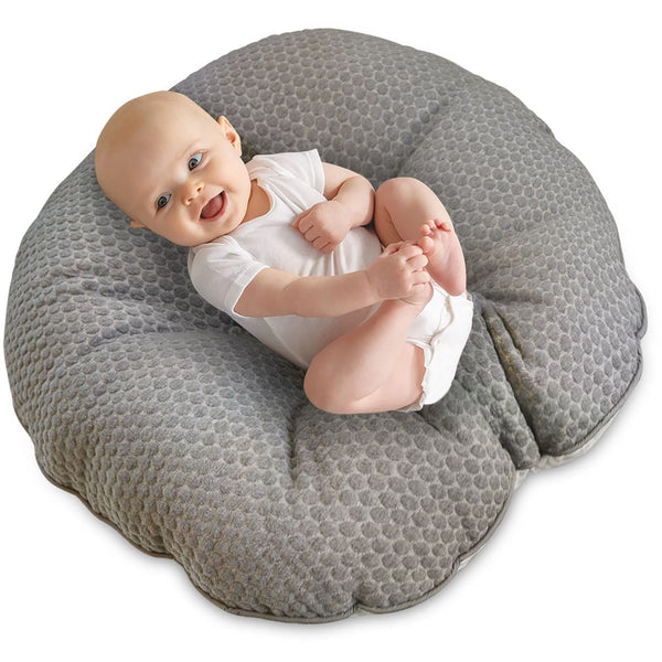 Boppy Preferred Newborn Lounger - Gray Pennydot Watercolor Stripe
