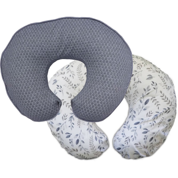Boppy Luxe Feeding & Infant Support Pillow - Gray Brushstrokes Pennydot