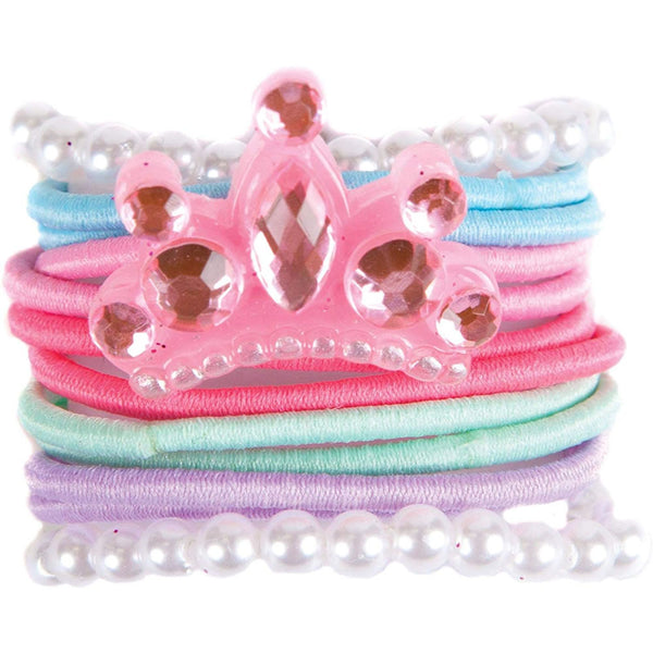 Great Pretenders Tiara Ties for Hair Set of 12