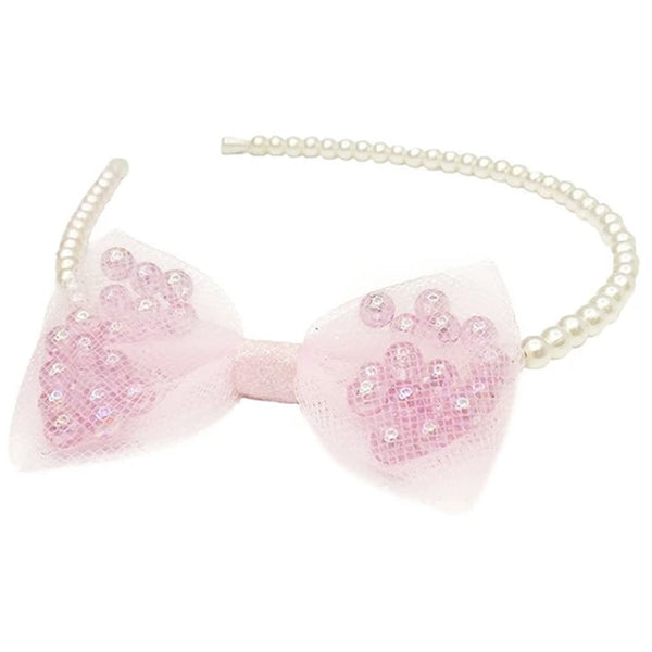 Great Pretenders Pearly Headband with Bow