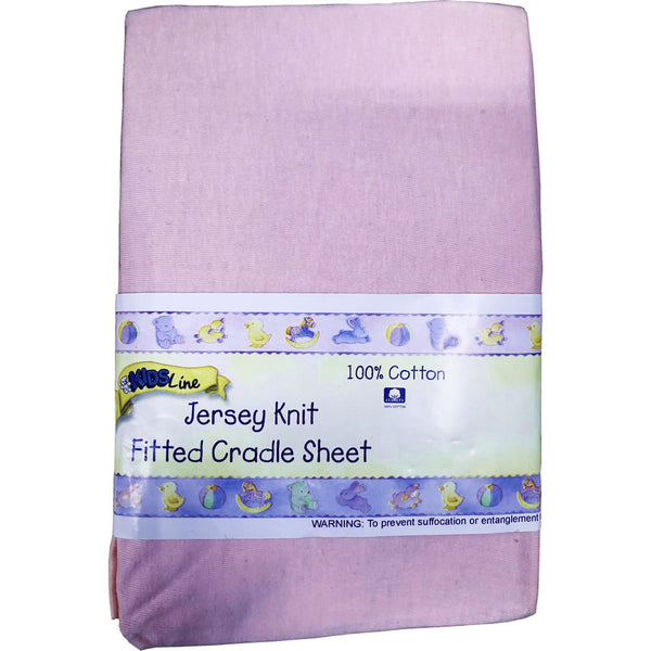 Kids Line Jersey Knit Fitted Cradle Sheet, Pink
