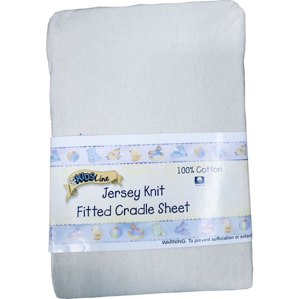 Kids Line Jersey Knit Fitted Cradle Sheet, Ecru