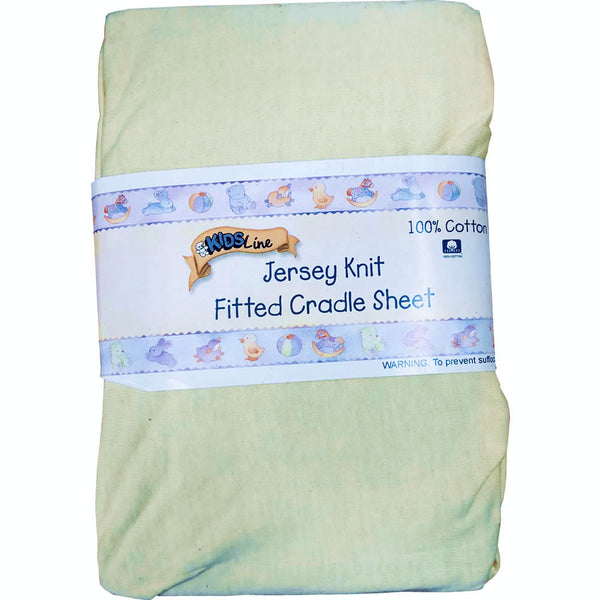 Kids Line Jersey Knit Fitted Cradle Sheet, Yellow