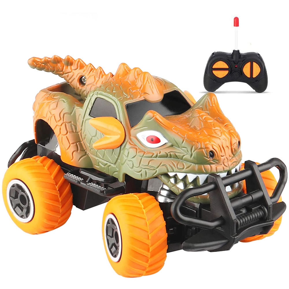 Dinosaur Monster RC Car Toy for Kids 1:43 Remote Control Car Toy, Green