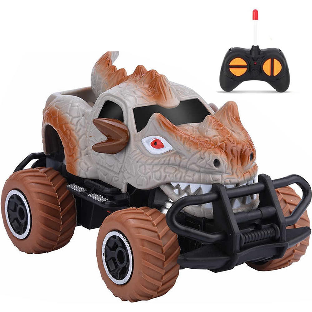 Dinosaur Monster RC Car Toy for Kids 1:43 Remote Control Car Toy, Gray