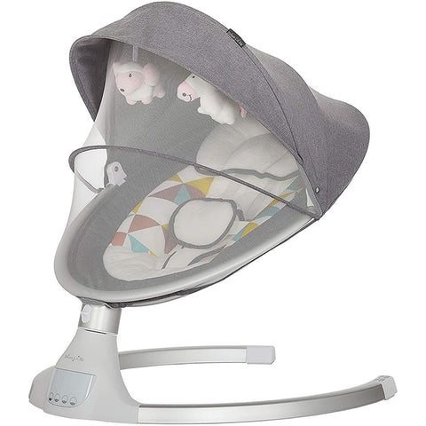 Dream On Me Zazu Cradling Swing, Grey and Pink