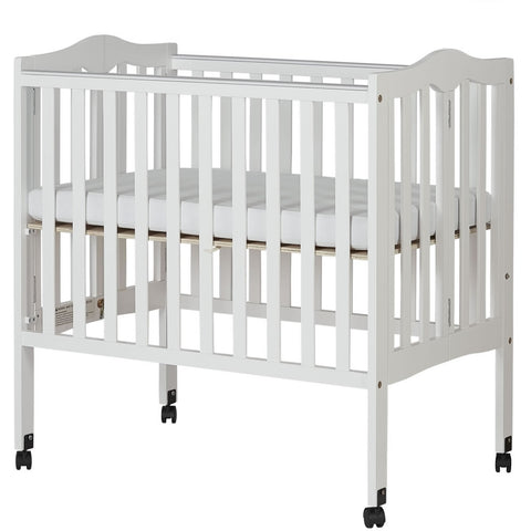 Dream On Me 2 in 1 Lightweight Folding Portable Crib - White
